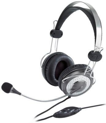 Sluchátka s mikrofonem Genius HS-04SU, 2x 3.5mm Jack, Ovládání hlasitosti